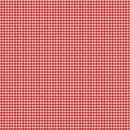 Snow Sweet Hand Painted Gingham Red
