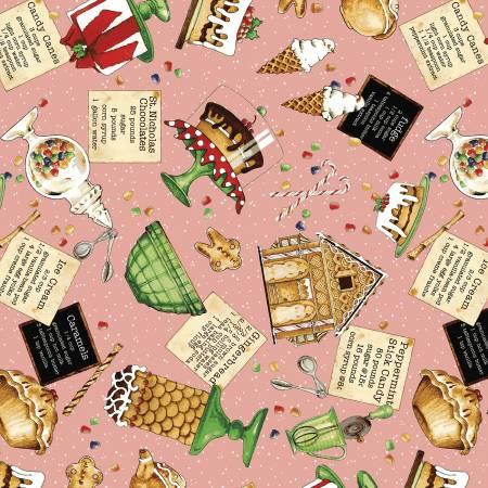 Snow Sweet - Sweet Toss, Pink - by J. Wecker-Frisch for Riley Blake