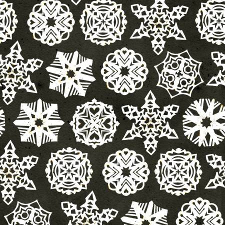 Snow Sweet Paper Snowflakes Charcoal
