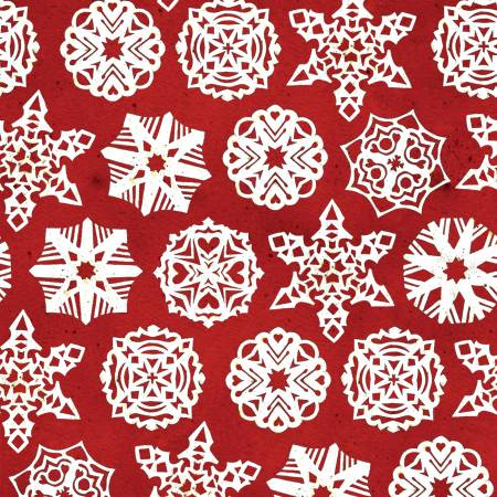 Snow Sweet - Paper Snowflakes, Red - by J. Wecker-Frisch for Riley Blake