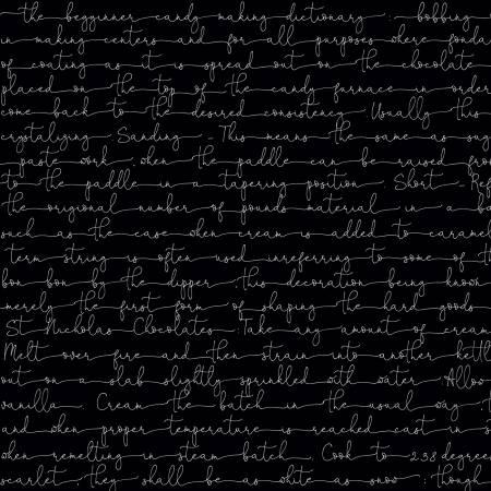 Snow Sweet - Text, Black - by J. Wecker-Frisch for Riley Blake