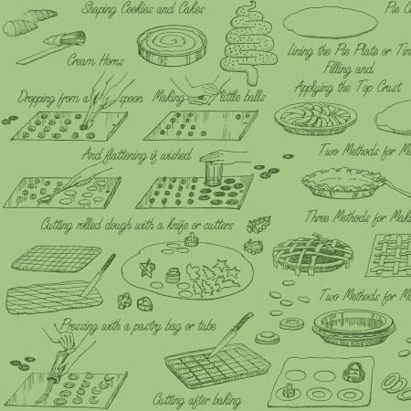 Snow Sweet Vintage Cookbooks Green