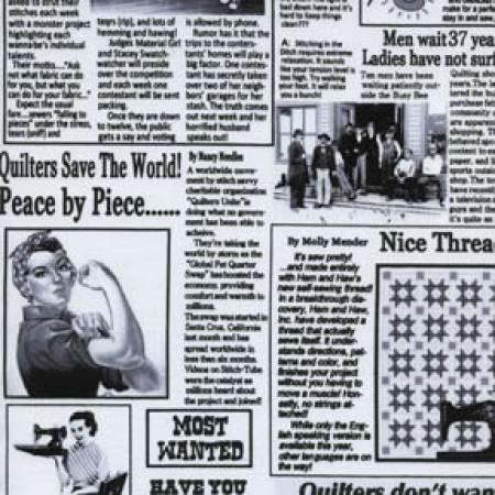 White Quilting Newspaper