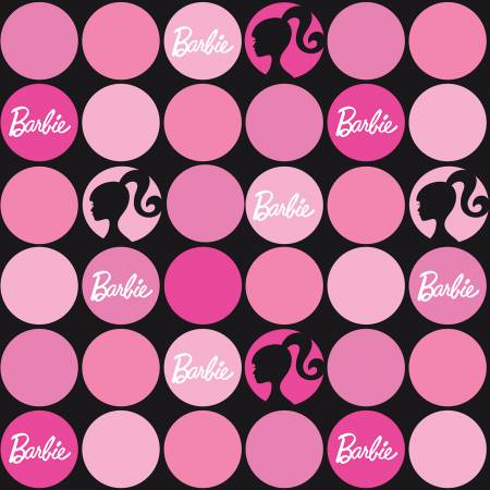 Riley Blake Barbie Polka Dots C9732-Black