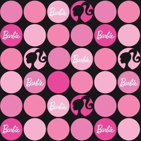 Riley Blake Designs Barbie Polka Dots Black
