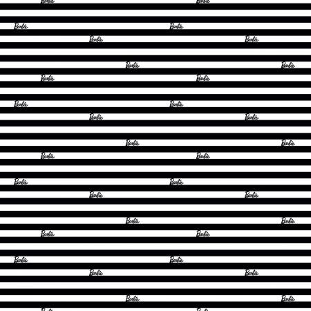 Riley Blake Barbie Stripes C9734-Black