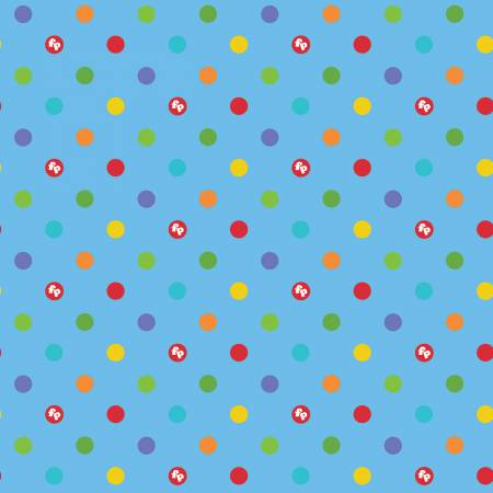 Riley Blake Fisher-Price Dots Blue