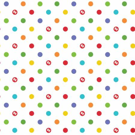 Riley Blake Fisher-Price Dots White C7664