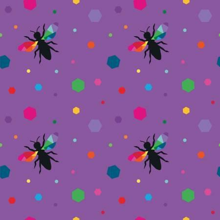 Create Hexie Bees Purple