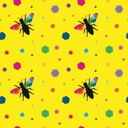 Create Hexie Bees Yellow