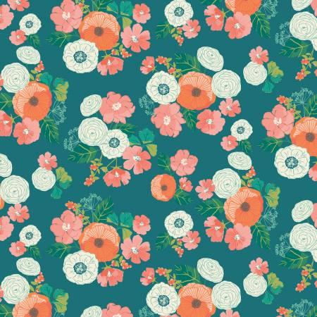 Midsummer Meadow Wild Bouquet Teal