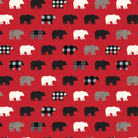 Wild At Heart - Bears Red C9821