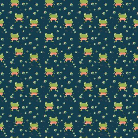 Ready Set Splash Frogs Deepsea- Riley Blake Designs SKU# C9892R-DEEPS