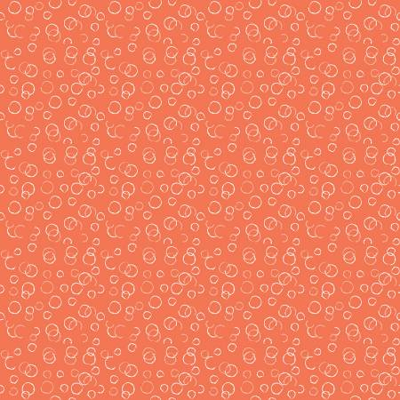 Ready Set Splash Bubbles Coral by Sandy Gervais for Riley Blake Designs C9896-CORAL