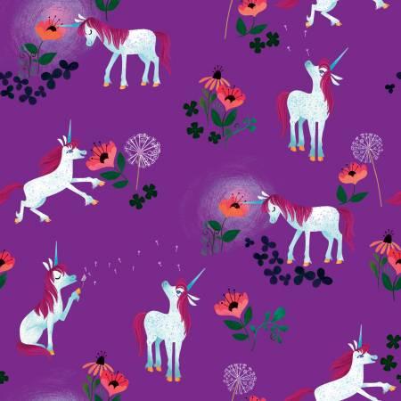 Uni The Unicorn by Riley Blake Designs in Purple