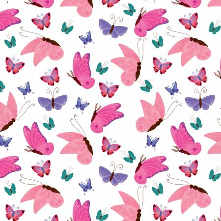 Uni The Unicorn Butterflies White