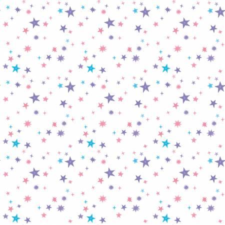 Riley Blake Uni The Unicorn Stars White