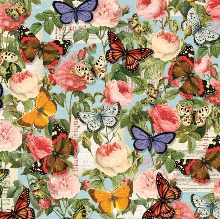 CA-3046-5C CW2 Butterflies & Roses (20B)