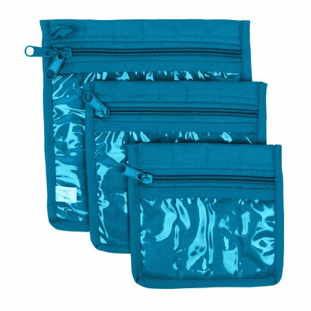 Craft Pouches Aqua 3 Piece