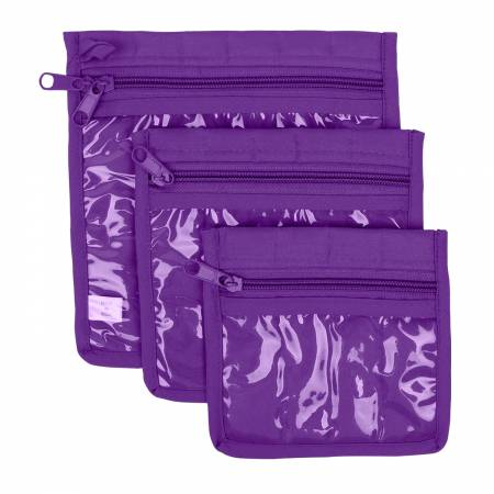 Craft Pouches Purple 3 Piece