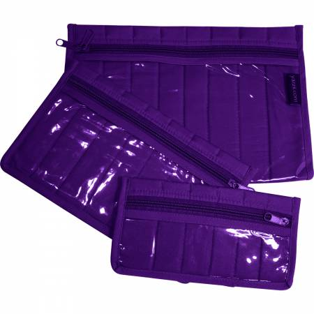 Notions Pouch Set Purple 3 Piece