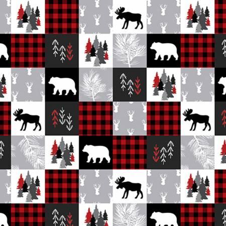 Shannon Fabrics Inc, - Cabin Quilt Cuddle Scarlet