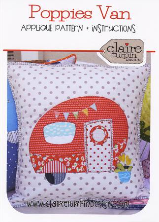 Poppie's Van Cushion - Claire Turpin Designs CACT007