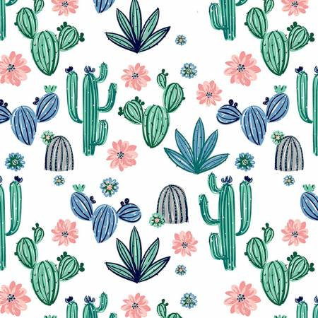 Bluebell Cactus Bloom Cuddle Print 60 wide