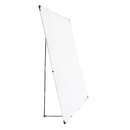 Portable Design Wall 72in Square White