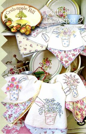 Cottage Flowerpot Tea Towels