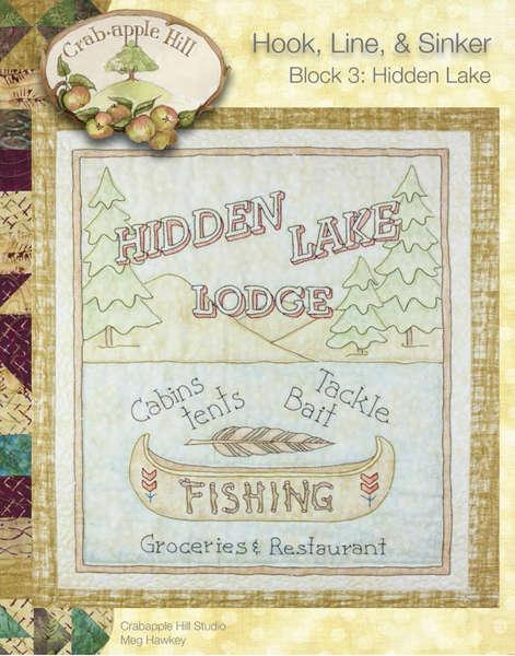 CAH #2503 - Hook, Line & Sinker Block of the Month Block 3 Hidden Lake