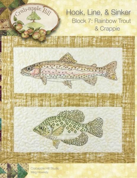 CAH #2507 - Hook, Line & Sinker Block of the Month Block 7 Rainbow Trout & Crappie