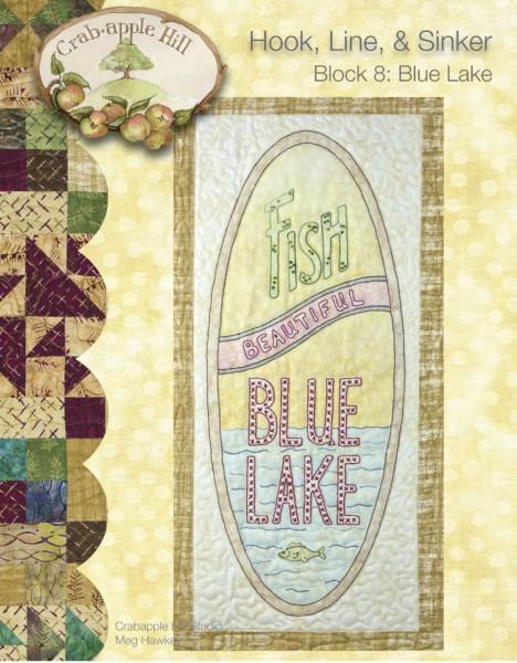 CAH #2508 - Hook, Line & Sinker Block of the Month Block 8 Blue Lake