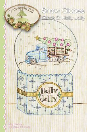 CAH #2526 - Snow Globes Block 5 Holly Jolly