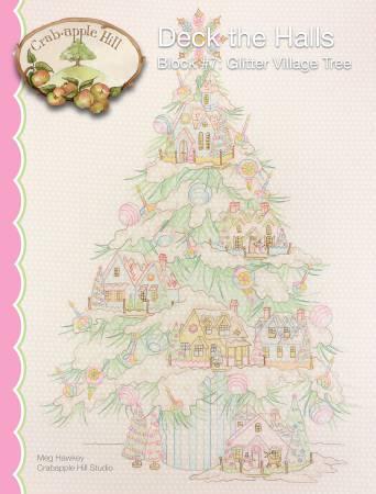 CAH #2542 - Deck the Halls Garlands Block 7 - Glitter Village Tree