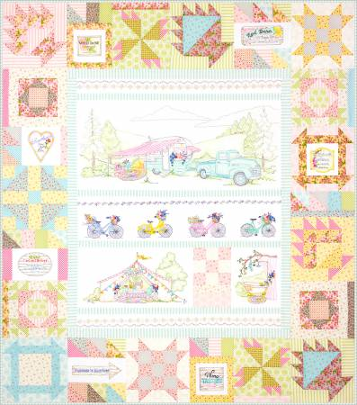 Girls' Getaway    Full Set  6 Assembly Quilt