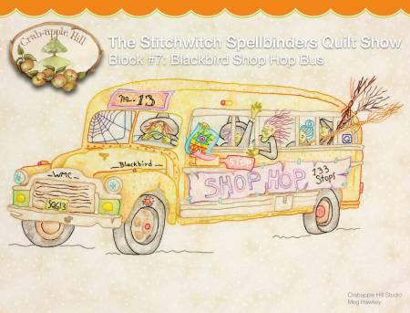 CAH #2566 - Stitchwitch Spellbinders Quilt Show 7 Blackbird Shop Hop Bus