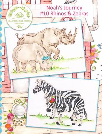 Crabapple Hill Studio - Noah's Journey BOM: #10 Rhinos & Zebras