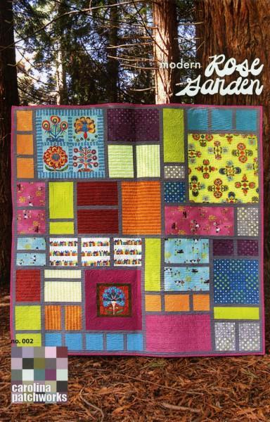 Modern Rose Garden Quilt Pattern by Carolina Patchworks