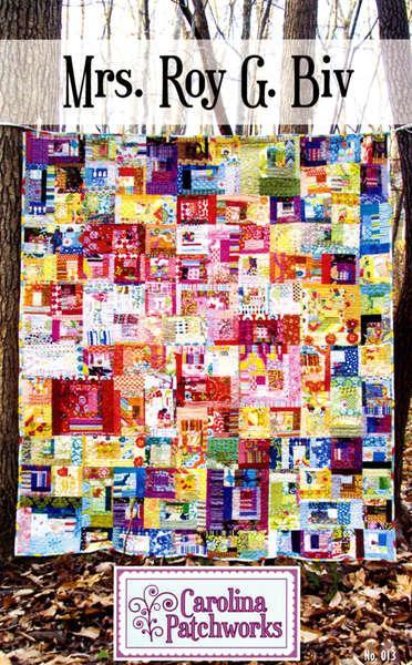 Mrs ROY G BIV Quilt Pattern by Carolina Patchworks