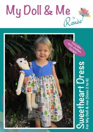 Sweetheart Dress - For My Doll & Me (sizes 2-6)