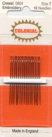 Embroidery/Crewel Needles Size 7 16 ct