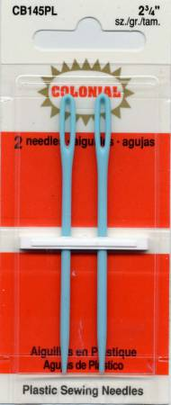 Colonial Needle Plastic Needles 2 3/4in 2ct