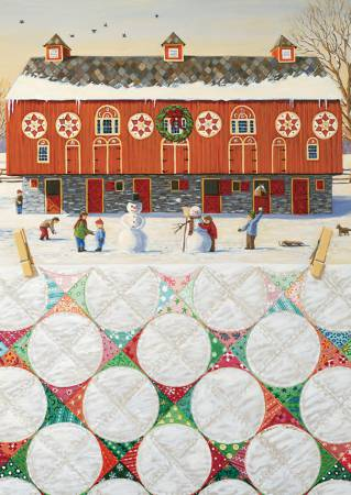 Rebecca Barker Red Barn Snowball Quilt Christmas Greeting Cards