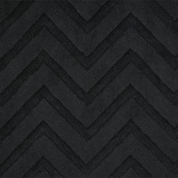 Shannon Fabrics Black Embossed Chevron Cuddle `