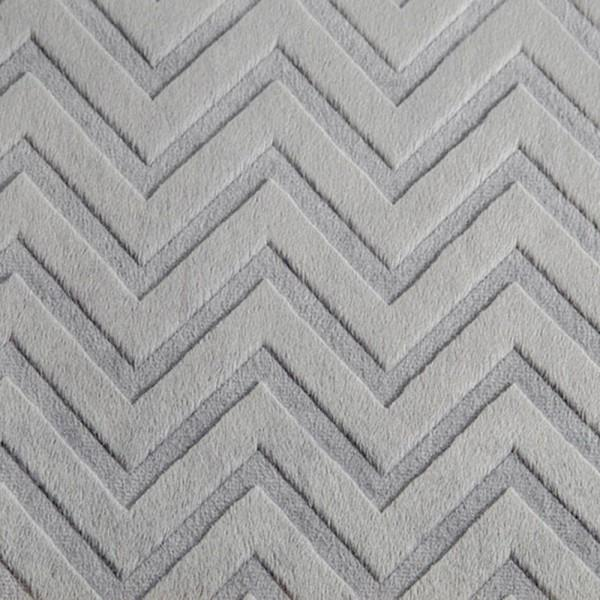 Silver Embossed Chevron Cuddle 10-12yd pcs