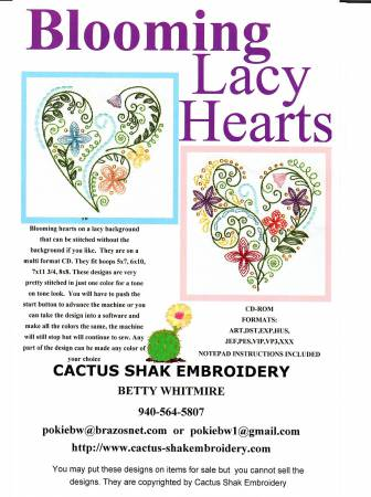 Blooming Lacy Hearts