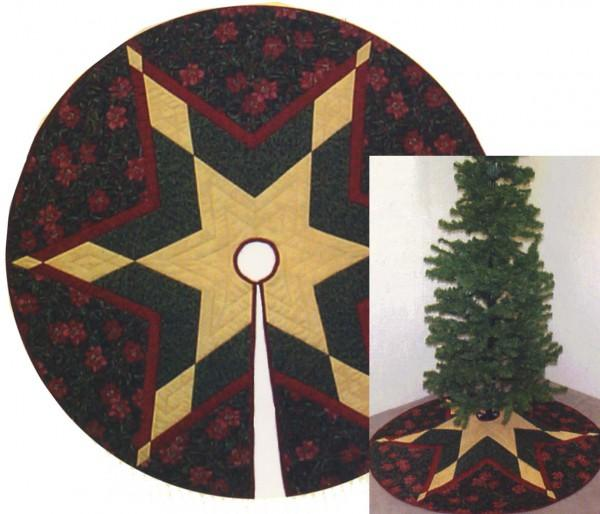 Calico Cat Patterns & Designs Starflake Tree Skirt