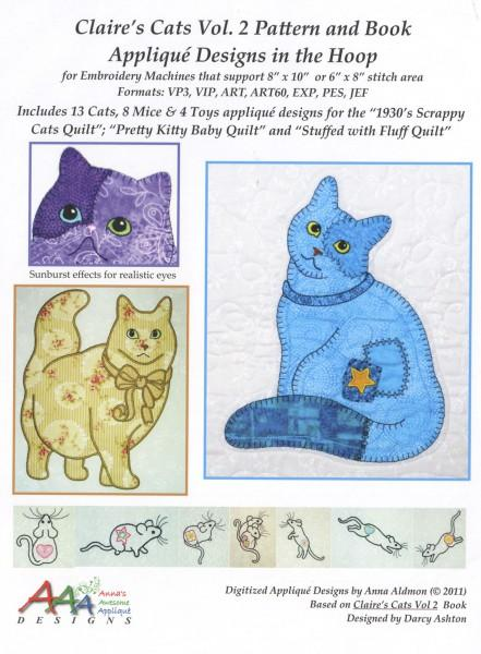 CD Claire's Cats Vol 2 Machine Embroidery