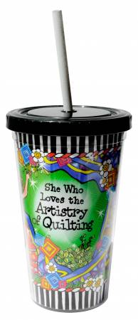 She Who Loves the Artistry of Quilting Cool Cup